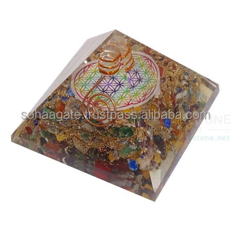 Orgone Pyramid With Flower Of Life Orgone Pyramid With Flower Of Life Symbol : Wholesale Orgone Energy Pyramids