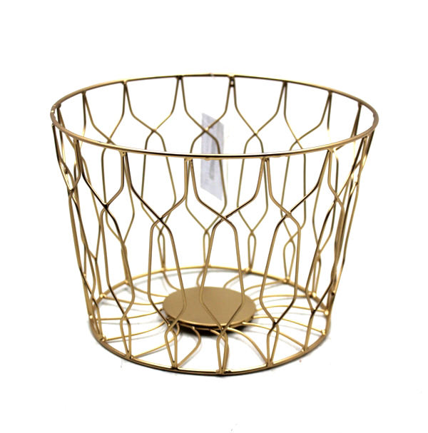Gold Color Round Stainless Steel Metal Basket