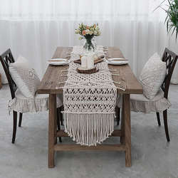 Boho Chic Bohemia Handmade Home Decor Macrame Table Runner C