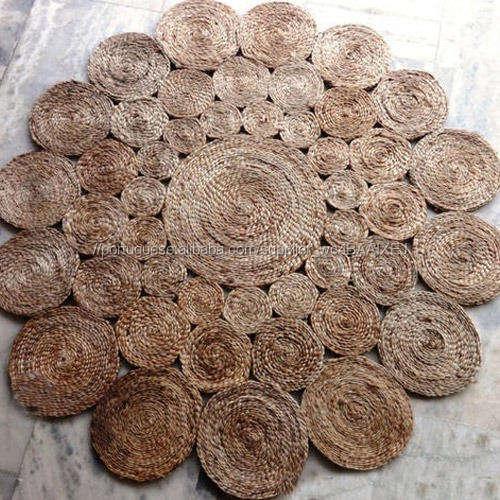 Trançado Tapetes De Juta, Os Tapetes De Juta cânhamo Feito Na Índia