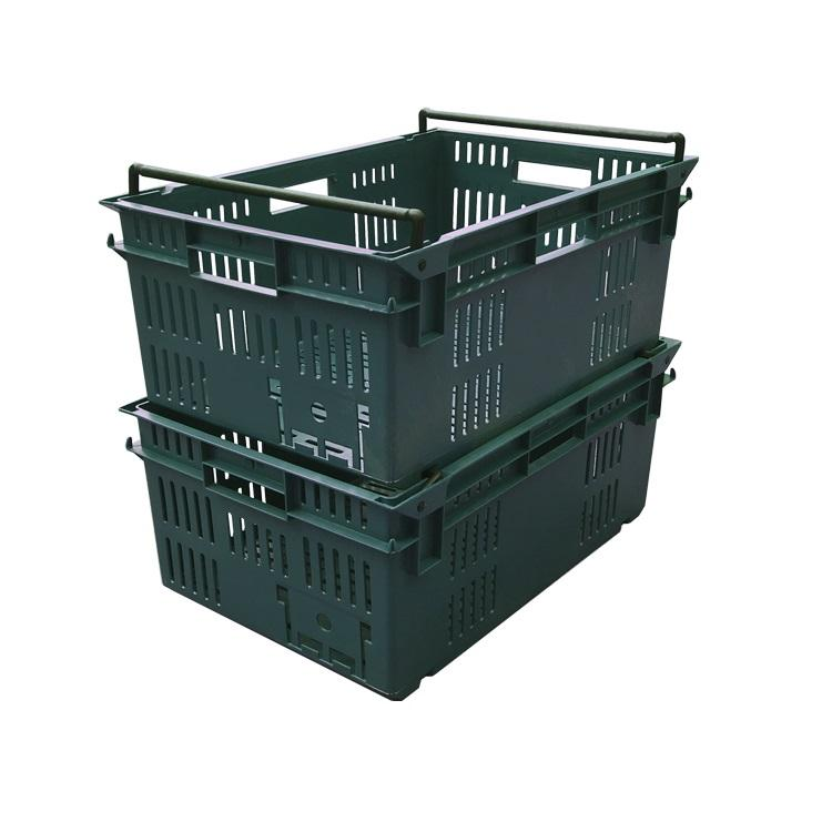 47L stack and nest vegetable packaging crate plastic crate for fruit