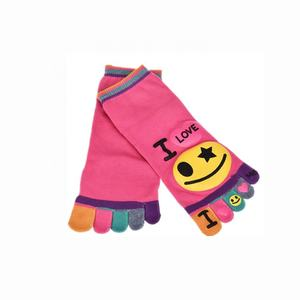 Fashion 5 toe graphic Baby Children kids cartoon happy crew socks