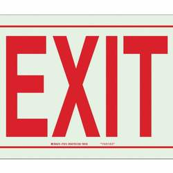D6943 Exit Sign 10 x 14In R/WHT Exit ENG Text