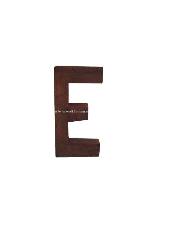 Rust Finished metal alphabet letter E