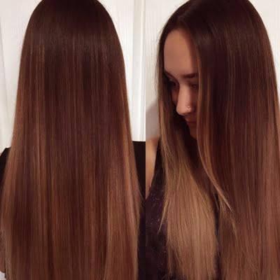 Mejor calidad hierbas Luz color de pelo marrón