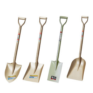 Metal shovel with handle with special steel plates for digging and scooping