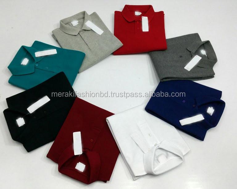 New Design Cheap Price Factory Made 100% cotton Pique Polo T shirt.