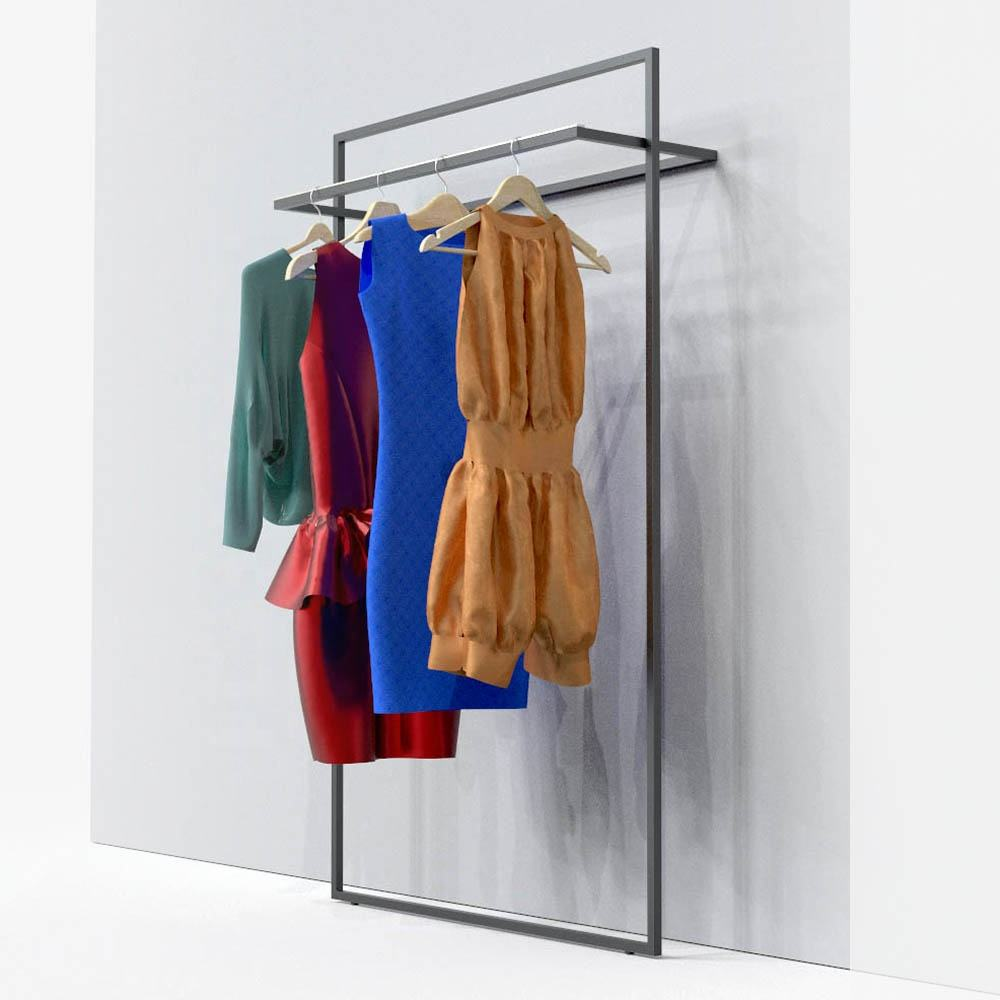 Wall Clothing Display Rack For Clothes Store
