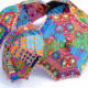 Wholesale folding bohemian hand embroidered cotton rajasthani outdoor umbrella