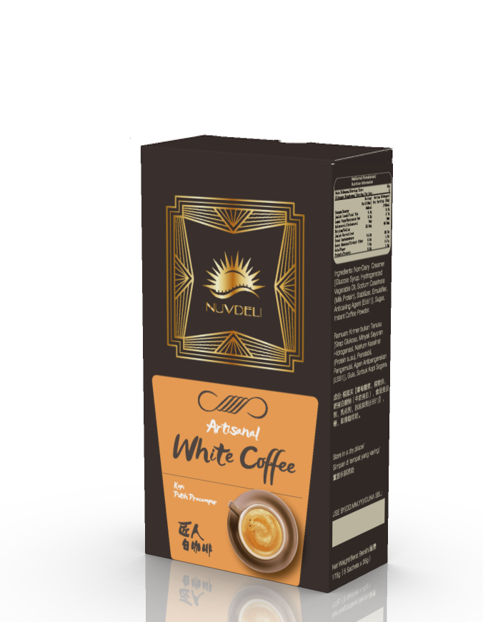 말레이시아 페낭 이포 PREMIUM WHITE COFFEE 3 IN 1/ATRISANAL 손 MADE/OEM