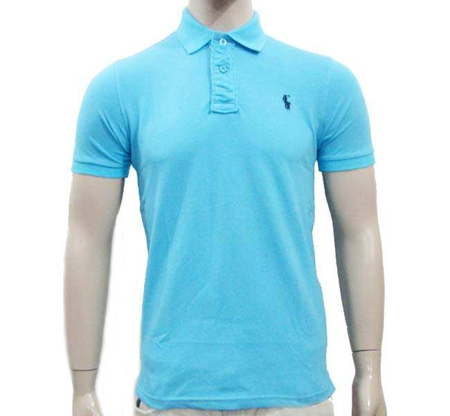 Sky Blue Polo shirt Men
