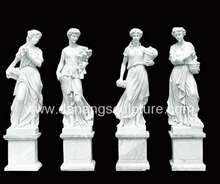Outdoor Home Garden Decor Four Season Goddess Girl Woman Marble Statue DSF-V10