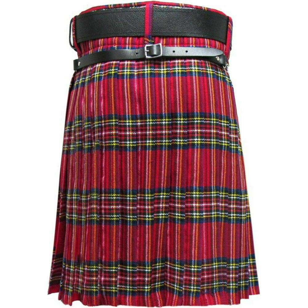 Clan Tie Gunn Ancient Tartan Pure Wool Scottish Handmade Necktie