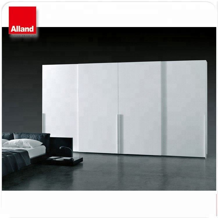 New style good price particle board I-shape 4 door sliding closet