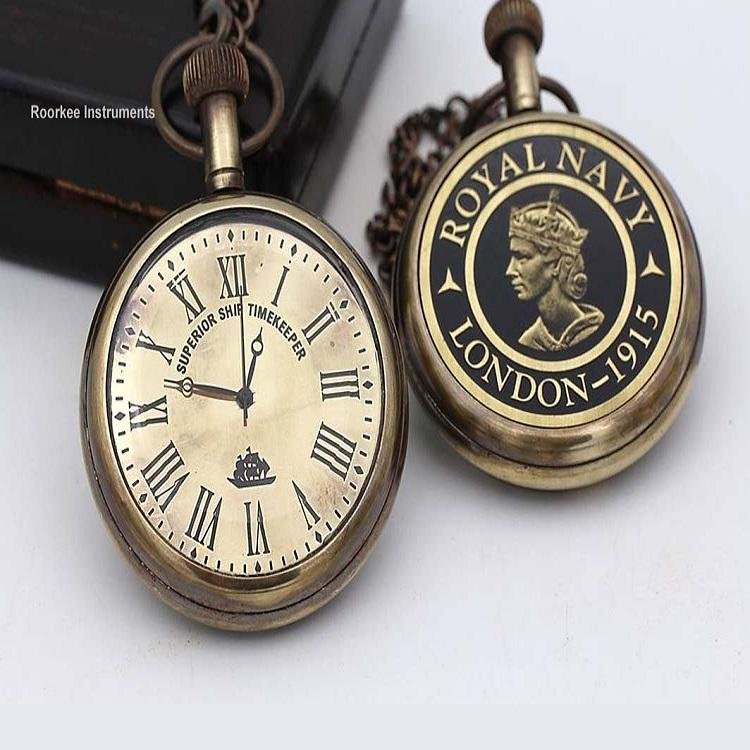 Brass Pocket watch with Wooden Box Direct Manufacturer Superb Quality Movement Mayo ta Japan
