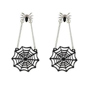 2019 New Gothic style jewelry collection for Halloween earrings black spider drop earrings Halloween jewelry customized