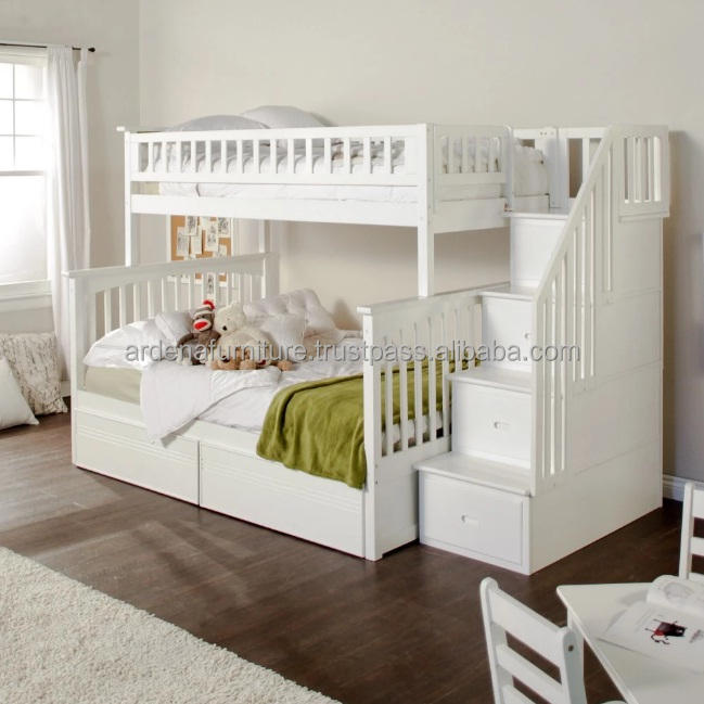 Cheap kid bunk bed furniture with solid wood for kid bedroom furniture