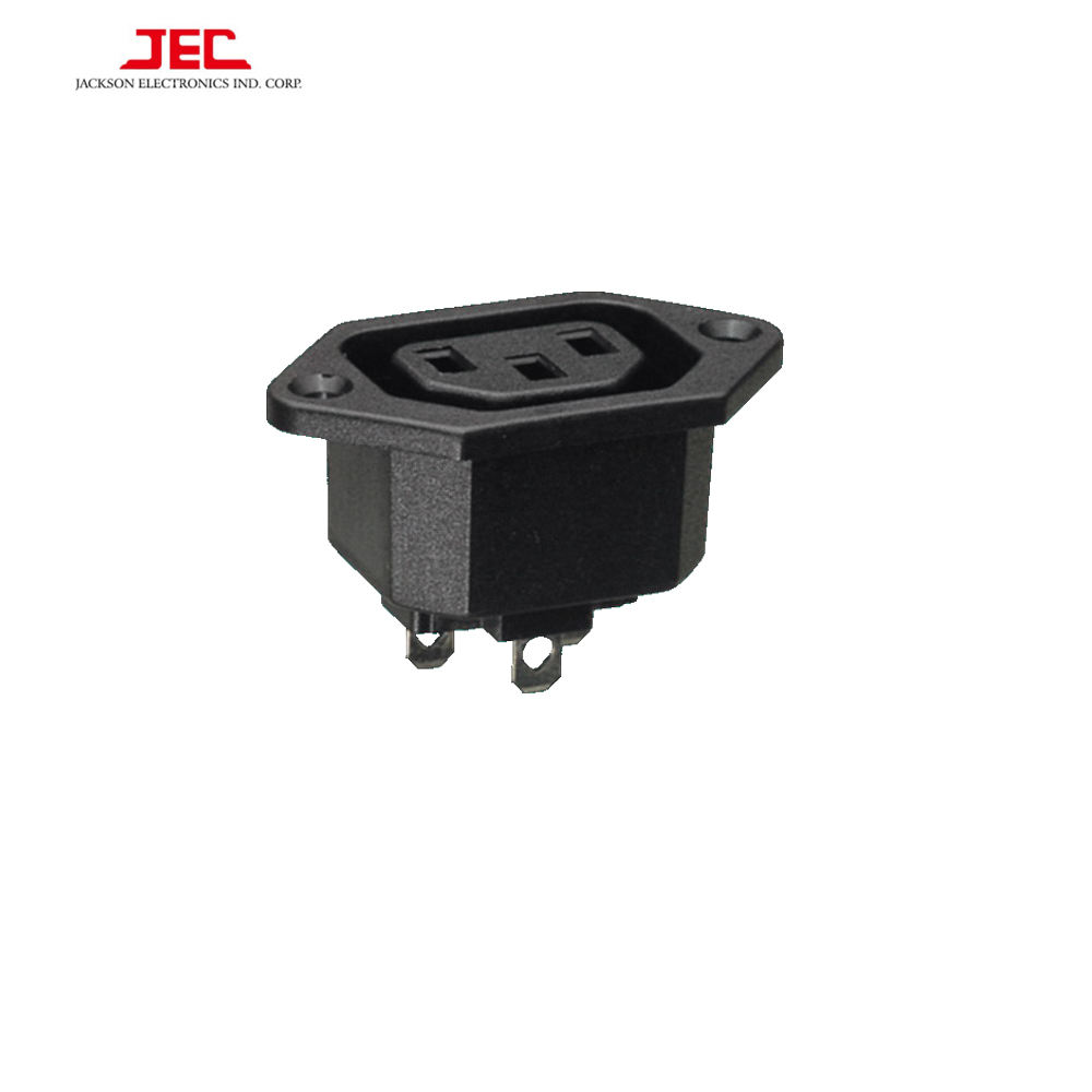 JEC TAIWAN IEC C13 POWER AC VROUWELIJKE INLAAT 3 pin SOCKET 10A 250 V connector outlet plug
