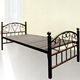 Modern wrought iron heart-shaped metal frame bed / sturdy single iron bed / bedroom latest design square tube single steel bed