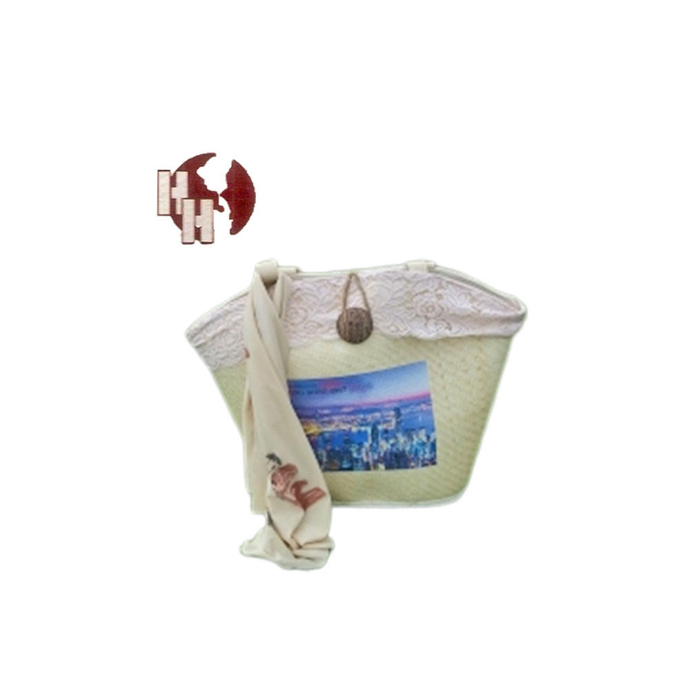 TROPICAL UNIQUE STRAW HANDMADE BAG ( IT IS NOT PAPER STRAW BAG ) made in Viet Nam