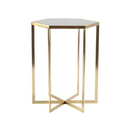 <span class=keywords><strong>Accent</strong></span> Moderne Tafel Met Marmeren Top <span class=keywords><strong>Goud</strong></span> Afgewerkt Moderne Geometrische Koffie Thee Tafel