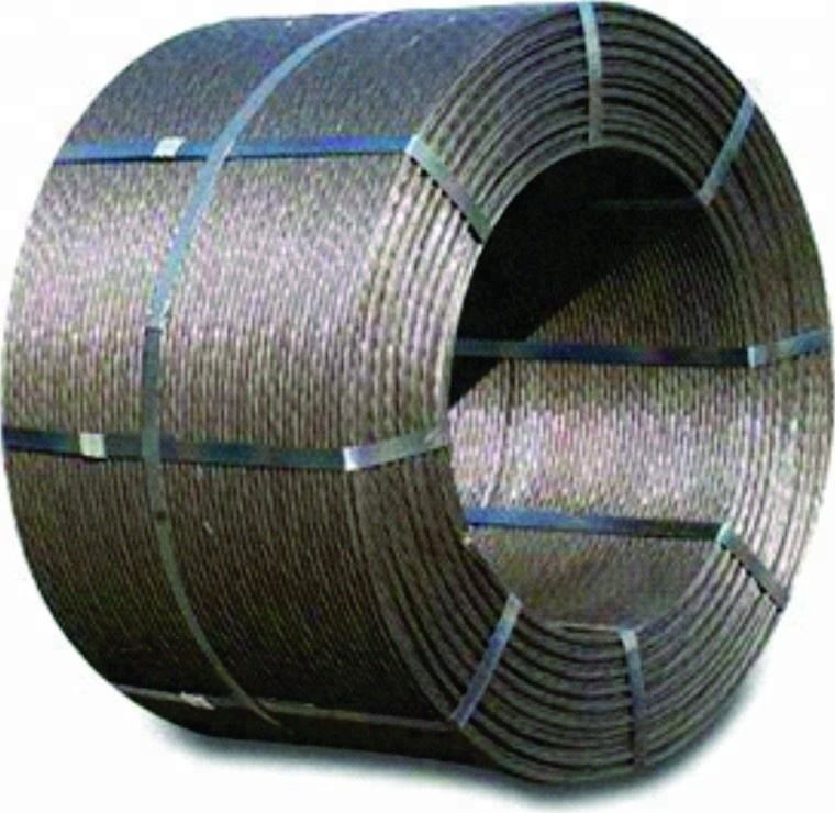 "1/2"" PC strand 270K for post-tensioning construction with mill's test exporting to USA"