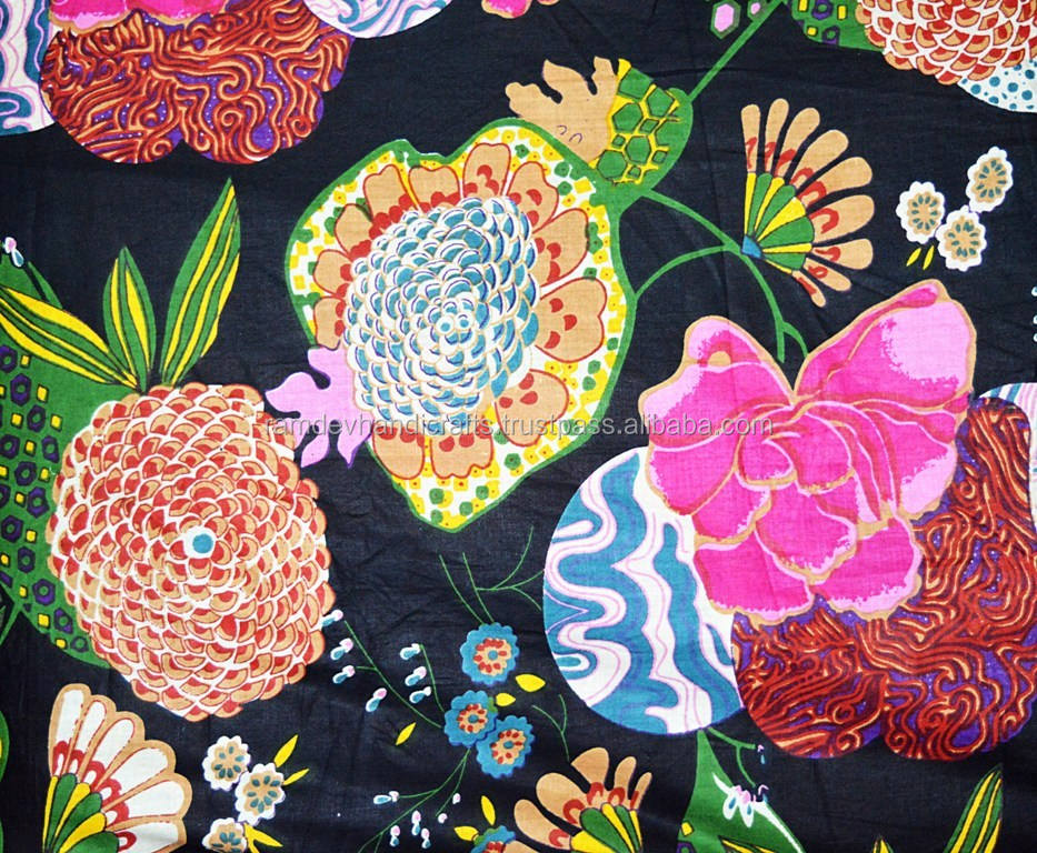 Beautiful Indian hand block print running 100% cotton fabric Indian asian art cotton fabric