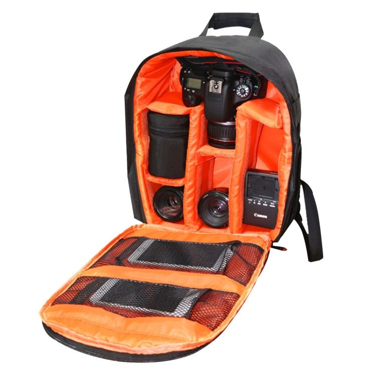 Factory price Portable Outdoor Sports Backpack Camera Bag for photographer droppshipping service (orange)