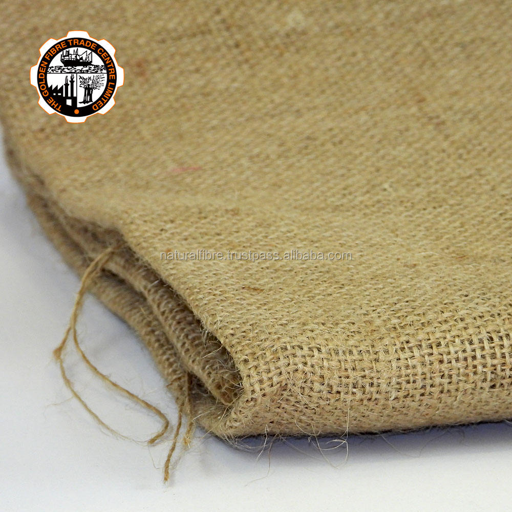 Hessian Quality Biodegradable Carpet Making Palette Packed from Yarn Jute Cloth Rolls