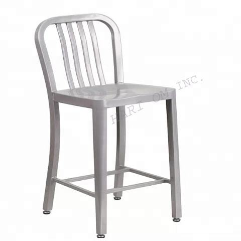 MURPHY ULTIMATE SILVER FINISHED FITZGERALD BAR STOOL