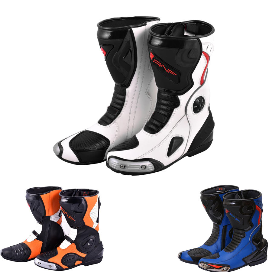 Racing Motorcycle Boots Long Ankle Boot Motorbike Leather