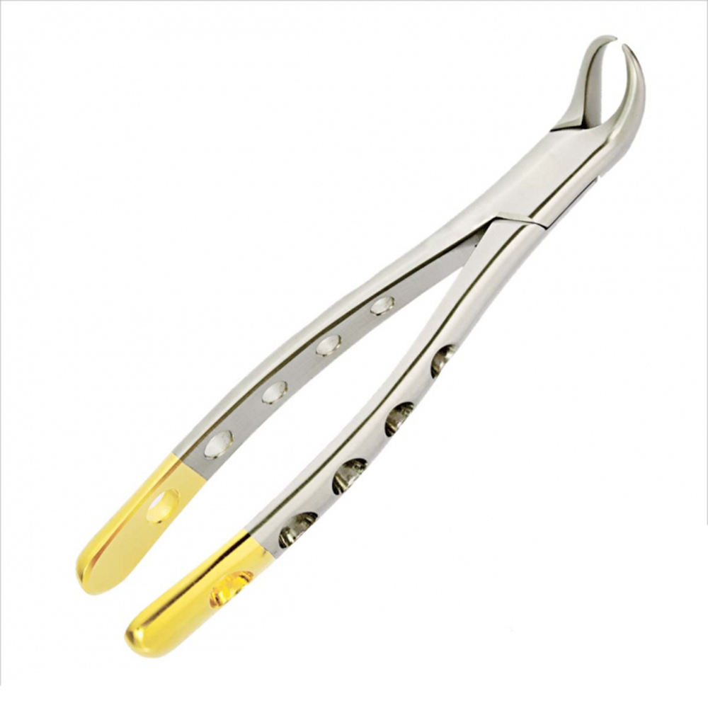 Extracting Forceps Tooth Dental Oral Lower Molar Cow Horn Half Gold Dental Tools