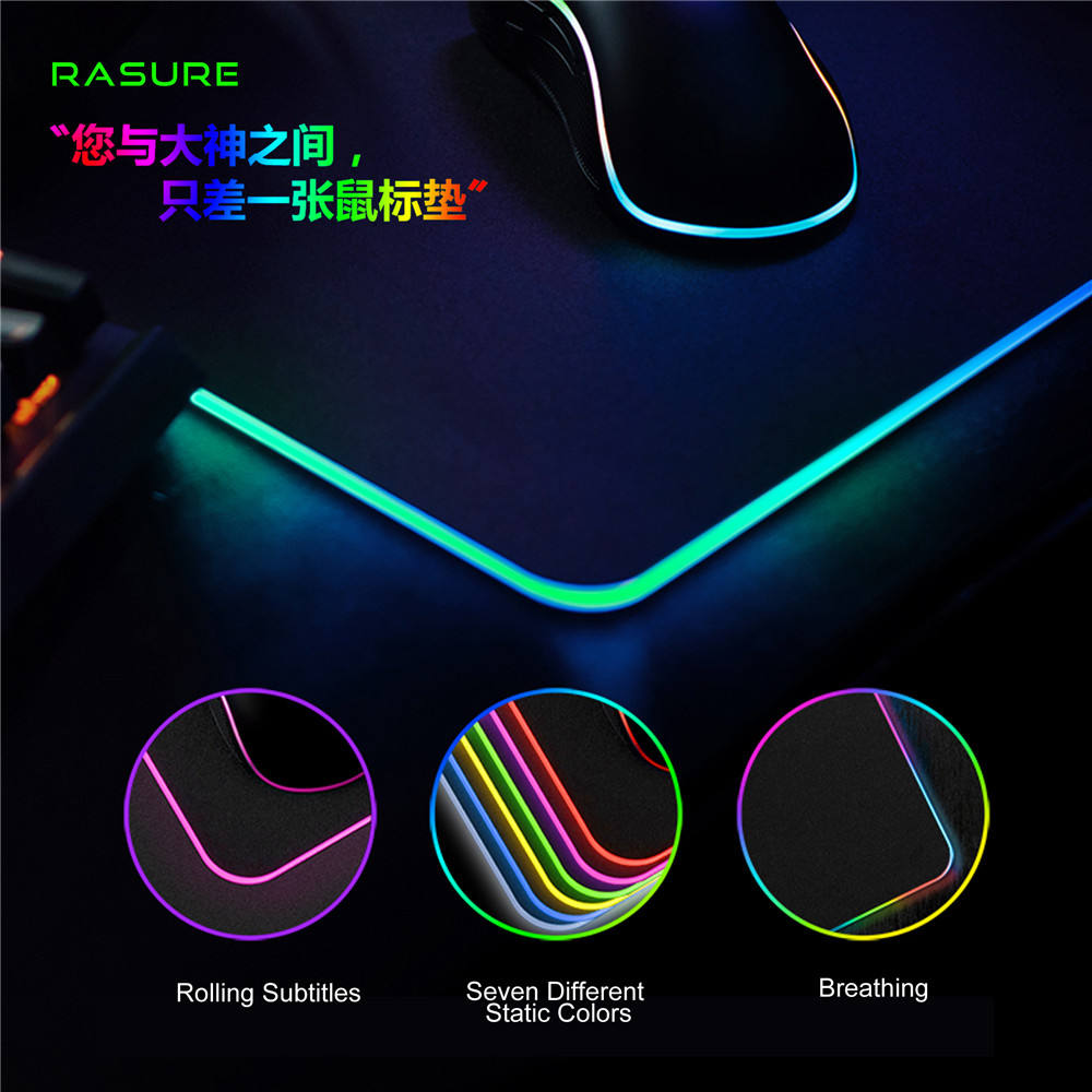 Rgb Blank Mousepad, Zacht Rubber Led Backlit Gaming Mouse Pad Voor Gamer