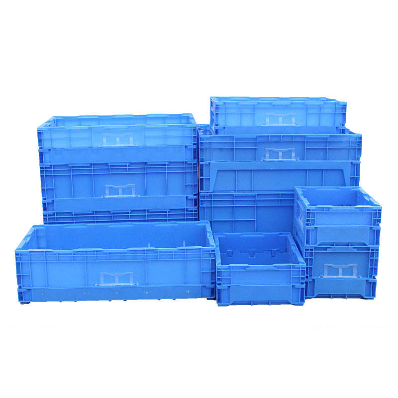 Heavy Duty nestable stackable nest containers plastic moving turnover box plastic collapsible crate