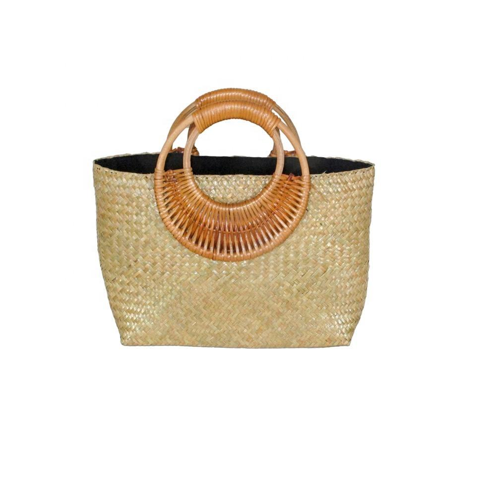 Hot- seller fashion well-known and convenient design seagrass bag