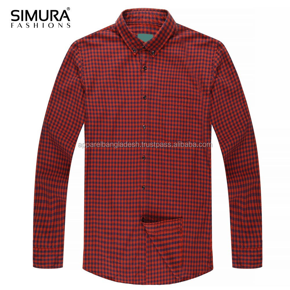 Slim Fit Checked Men's Shirt