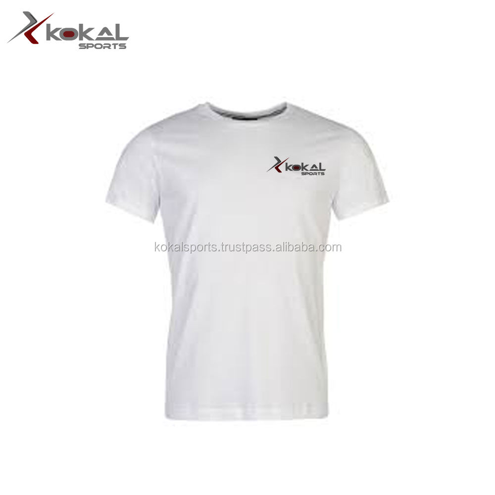 plain white custom made logo t shirt