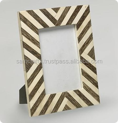 Hot sale Buffalo bone & Resin decorative Picture Frame