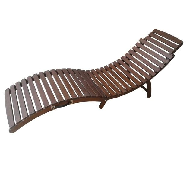 Foldable Sun Lounger, Acacia wood, natural oil finishing WCD078.1