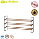 Extendable Shoe Storage Rack Taiwan Manufacturer 2 Tier Wood Grain Storage Extendable Shoe Rack Wholesale