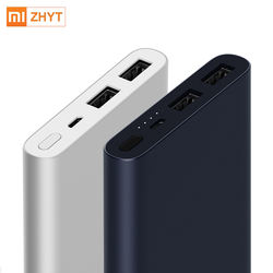 New Xiaomi Mi 10000mAh mobile power bank 2 Dual USB Output Two Way 5V/9V12V Quick Charge 18W for mobile phone