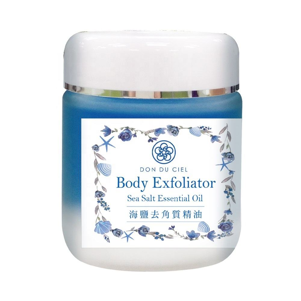 Natural essential oil sea salt exfoliating cream body bath scrub cream and scrub manufacturers