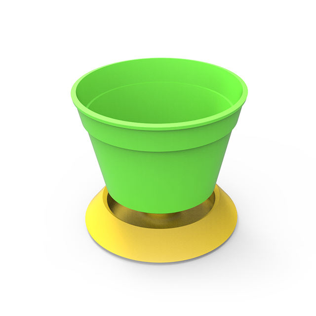 [Handy-Age]-2 in 1 Colorful Garden Pot with Saucer (GN2000-008)