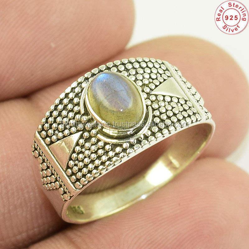 O verdadeiro Amor charme labradorite gemstone 925 anel de prata esterlina handmade fabricante de preciosas jóias de prata