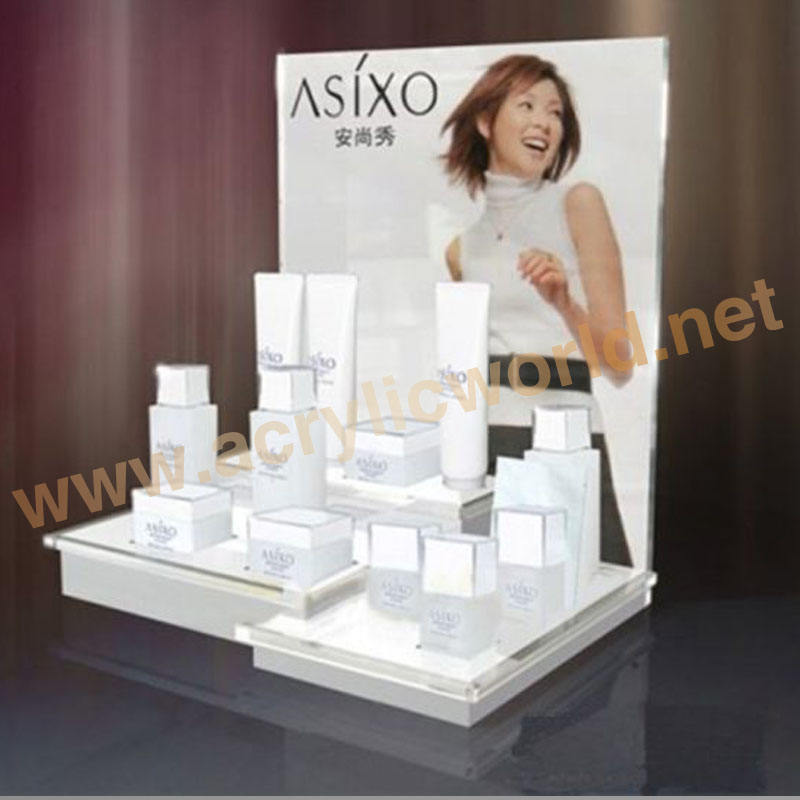 OEM China factory acrylic makeup cosmetic product counter display