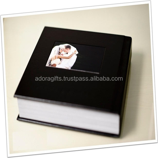 New Arrival Plastic Sheets Inserts Promotional Leather Photo Album Cover