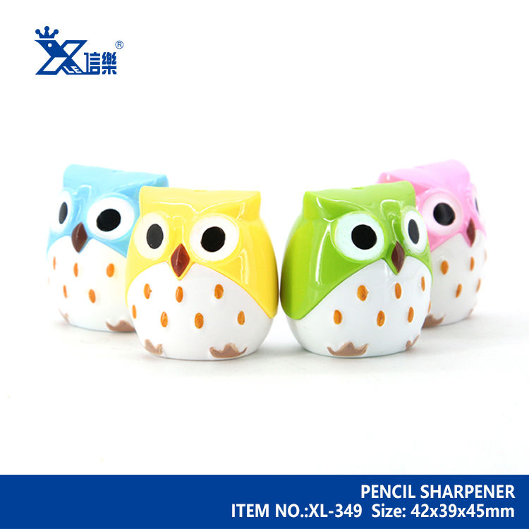Sharpener For Kids Cute Owl Shaped Patent Twin Hole Cartoon Pencil Sharpener Best Gift For Kids School Supplies
