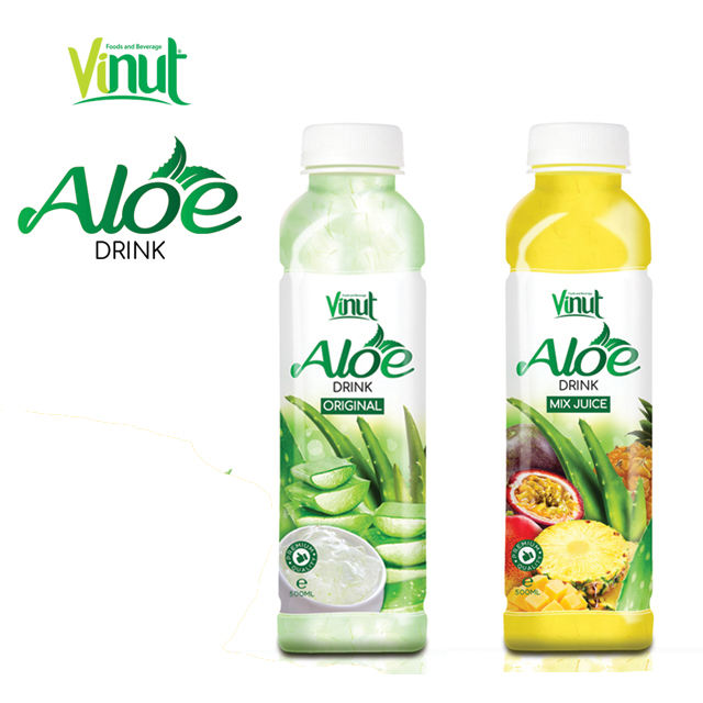 500ml aloe vera juice OEM private label VINUT beverage tropical aloe vera drink