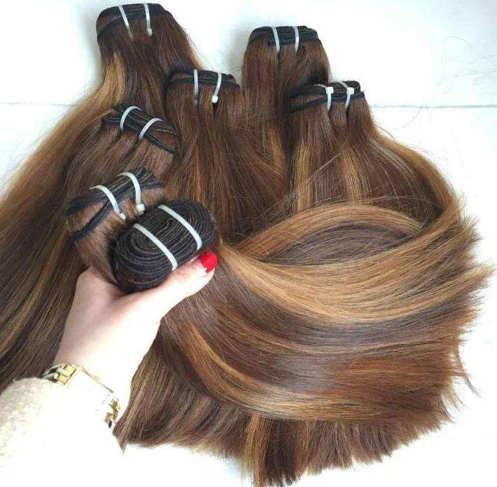 100% human hair extension bundles dyed colorful remy virgin hair bundles from Vietnam