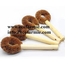 Wooden Dish Cleaning Wash Coconut Fibre Brush